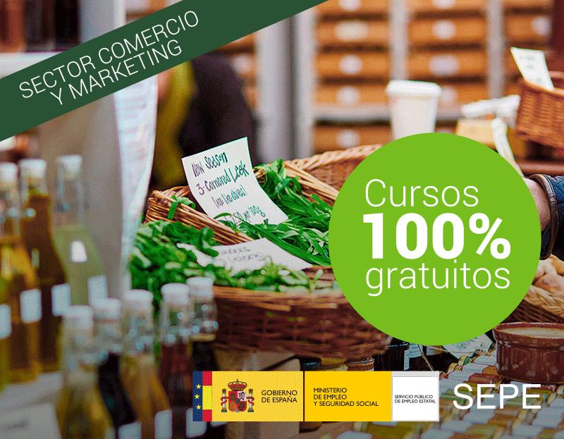 Cursos de Formación 100% Subvencionada para trabajadores y autónomos del Sector Comercio y Marketing