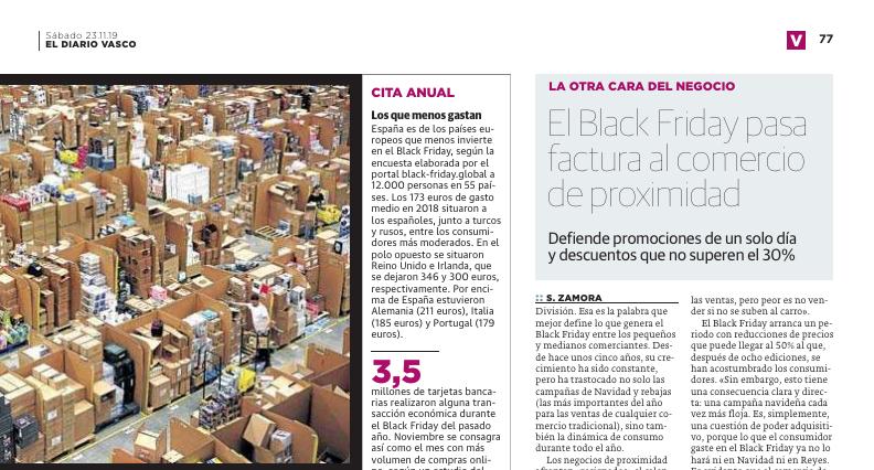 Diario Vasco | El Black Friday pasa factura al comercio de proximidad