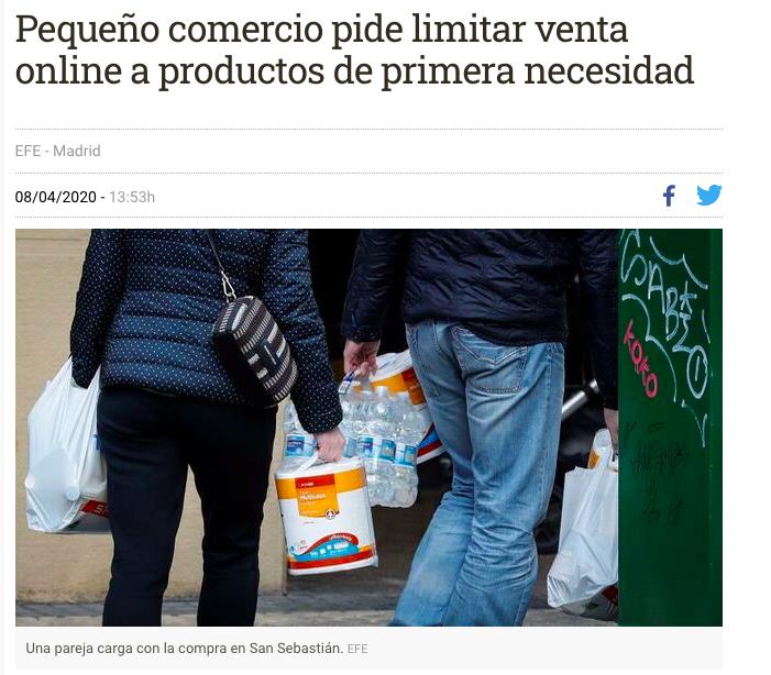 Entrevista a Pedro Campo   El pequeño comercio pide limitar la venta online a productos de primera necesidad