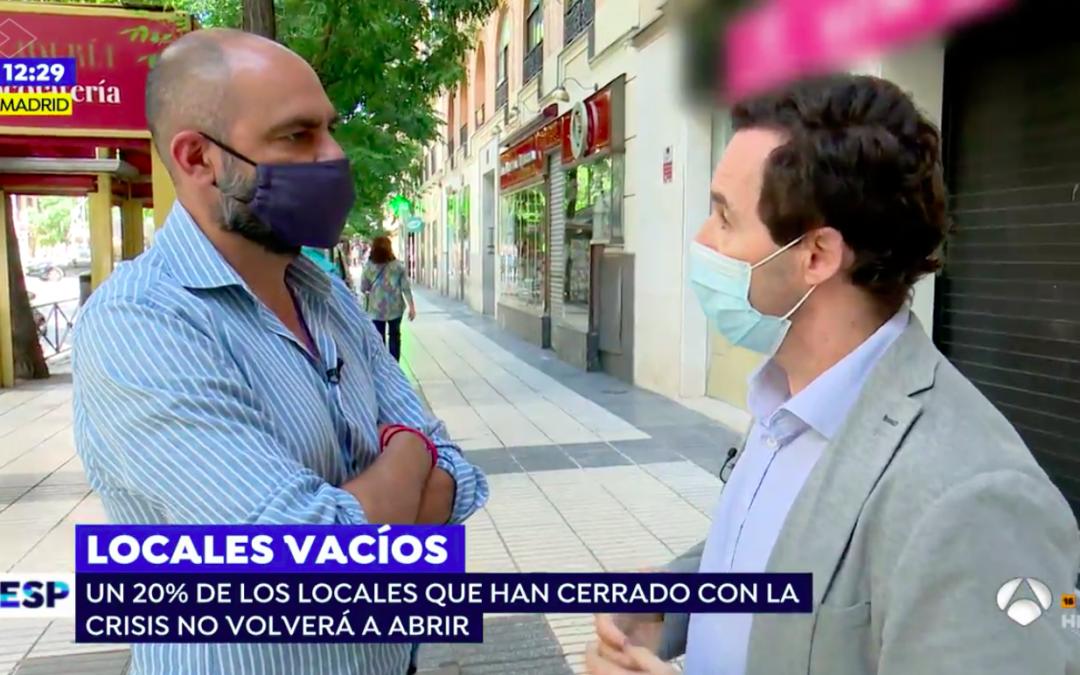 """Carlos Moreno-Figueroa en Espejo Público: """"Si el comercio funciona, España funciona"""""""