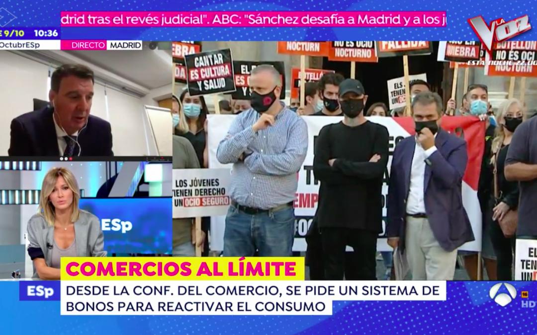 """""""Necesitamos dotar al sector del comercio de seguridad y dinamizar el consumo"""", Julián Ruiz en Espejo Público"""