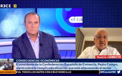 Pedro Campo en Trece TV «El comercio de proximidad tiene que trabajar en sus propios portales de venta online»