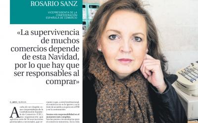 «La supervivencia de muchos  comercios depende de esta Navidad, por lo que hay que  ser responsables al  comprar» Rosario Sanz, Vicepresidenta de la CEC