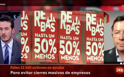 «Las ayudas hasta ahora han venido encaminadas a un mayor endeudamiento de los establecimientos» Carlos Moreno – Figueroa en La tarde en 24H