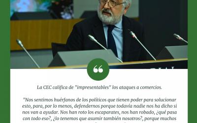 Pedro Campo califica de «impresentables» los ataques a comercios y afirma que se sienten «huérfanos de los políticos»