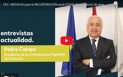 Pedro Campo en Negocios TV: » Hay que empezar a trabajar en el día después, para intentar salvar el mayor número de empresas»