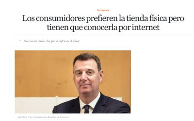 Julián Ruiz «Los consumidores prefieren la tienda física pero tienen que conocerla por internet»