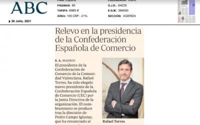 ABC: «Relevo generacional en la Confederación Española de Comercio»