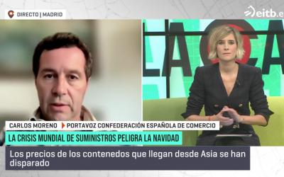 «Nuestra recomendación es adelantar las compras de cara a la Navidad» Carlos Moreno – Figueroa en ETB2